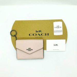 NWT Coach Pebble Leather Envelope Card Case 68395E